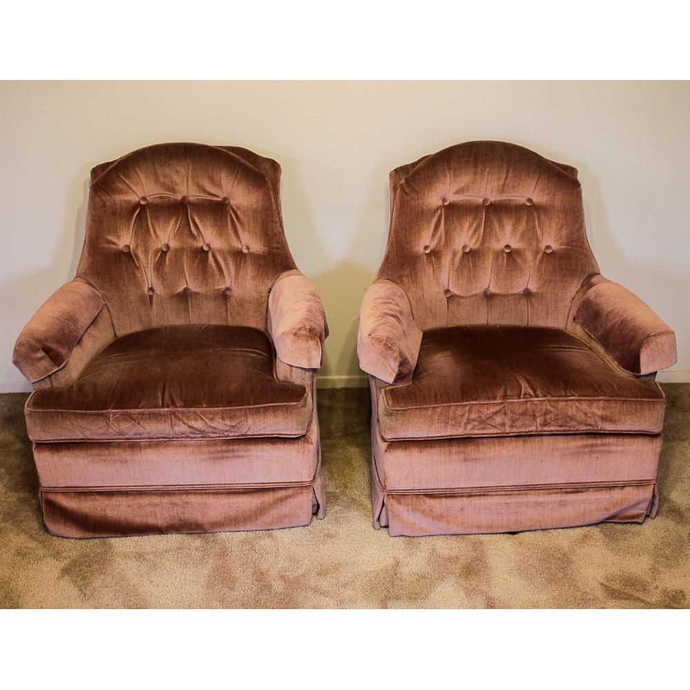 Pair of Upholstered Armchairs by Broyhill