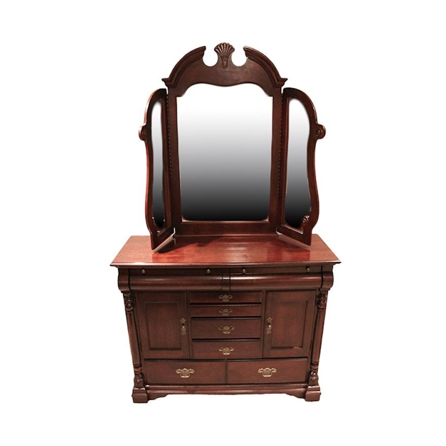Vintage Empire Style Dresser With Mirror