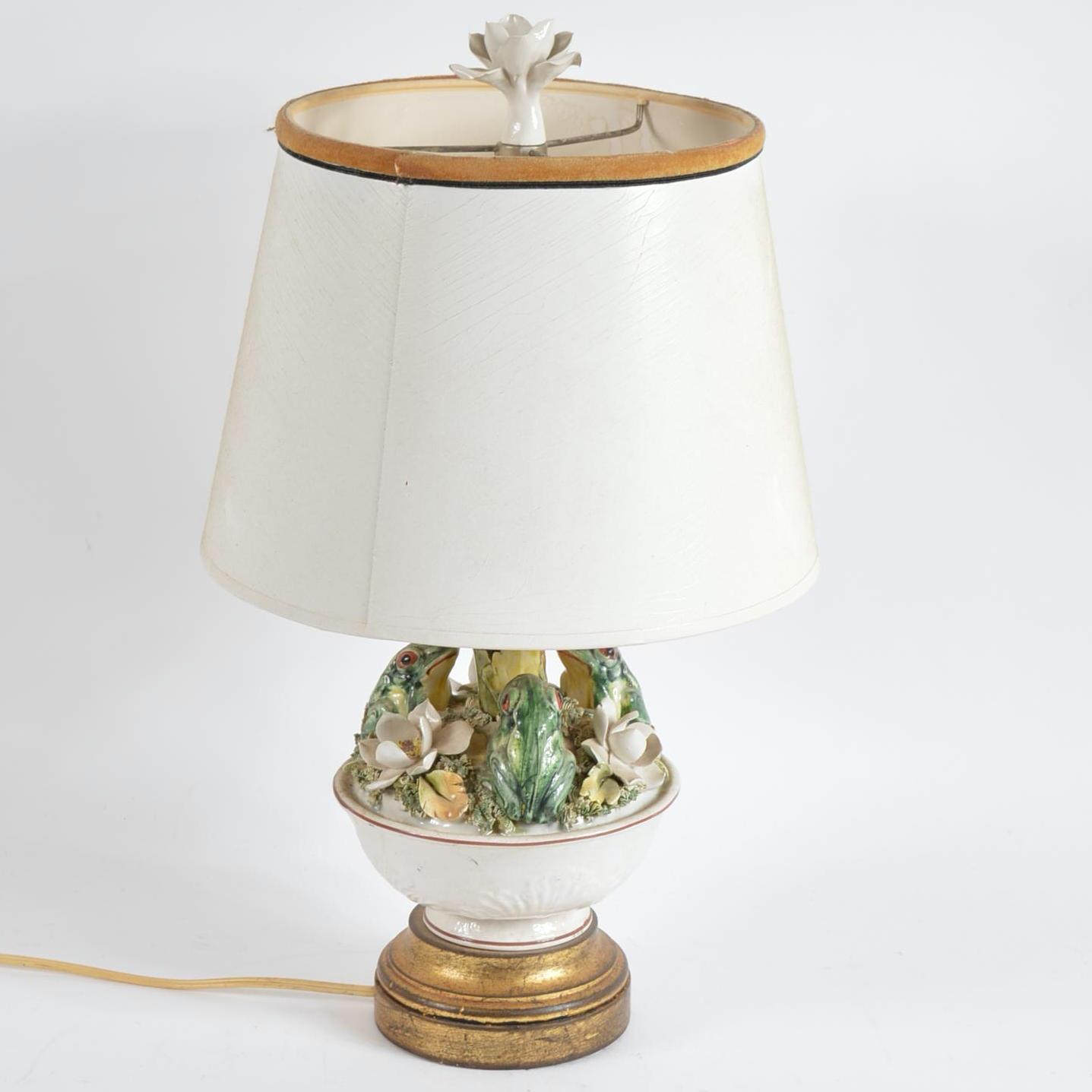 Ceramic Frog Table Lamp