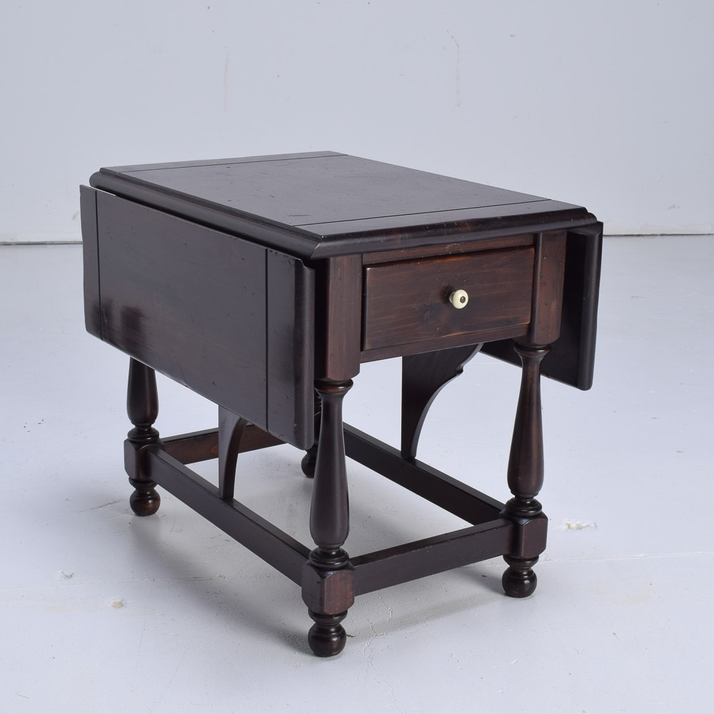 Vintage Drop-Leaf Side Table