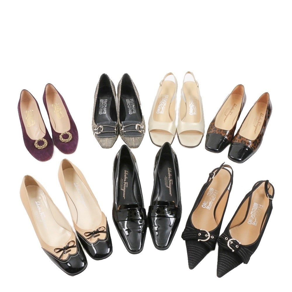 Seven Pairs of Women's Salvatore Ferragamo Dress Shoes