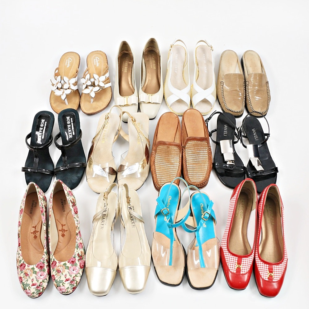 Variety of Ladies Summer Sandals and Shoes