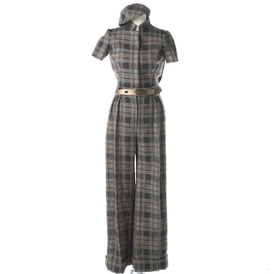 Vintage Cardinali Short Sleeve Jumpsuit with Matching Hat