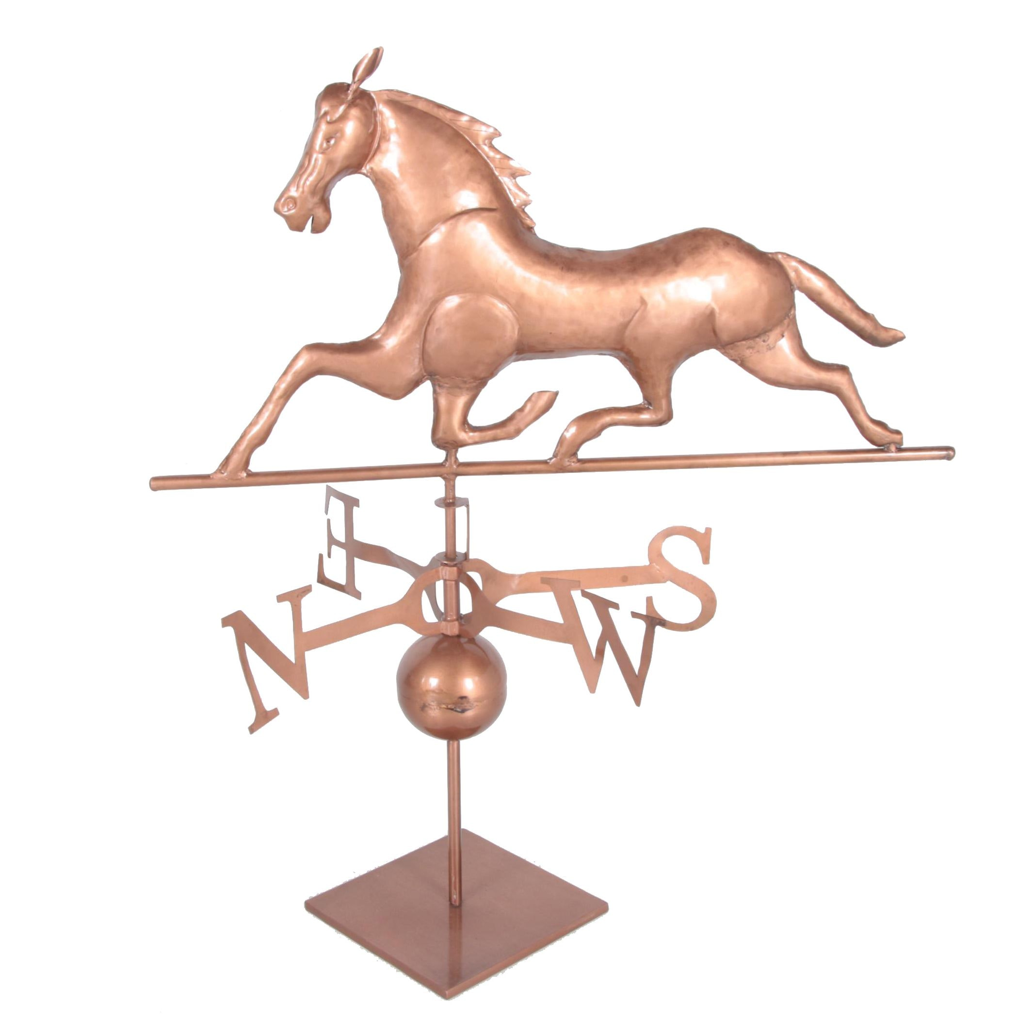 Copper Tone Metal Horse Tabletop Weathervane ...