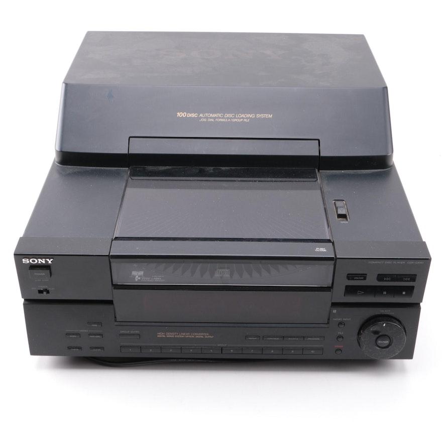 Via Cd Changer Or: Sony 100-Disc CD Changer : EBTH