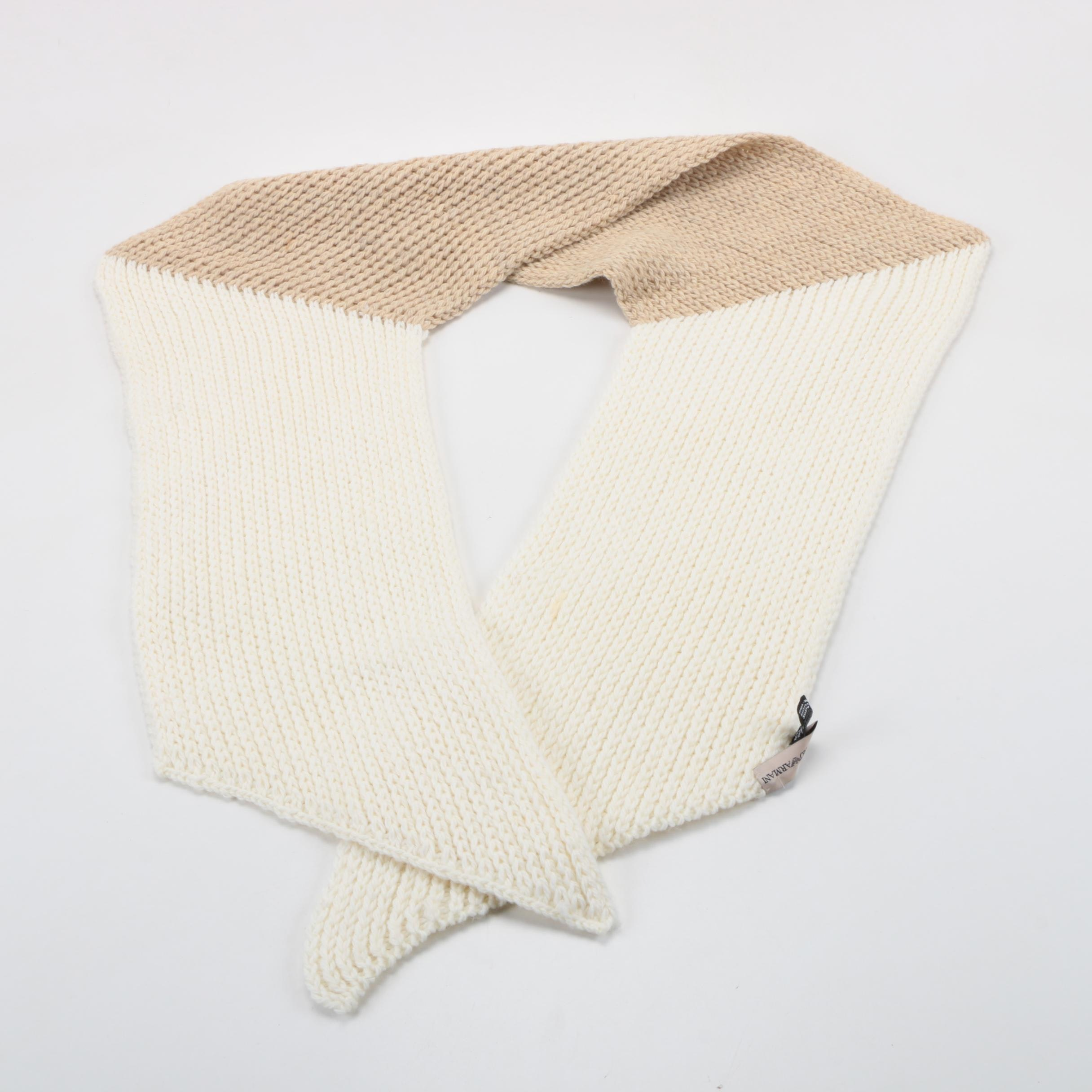 Emporio Armani Knit Scarf