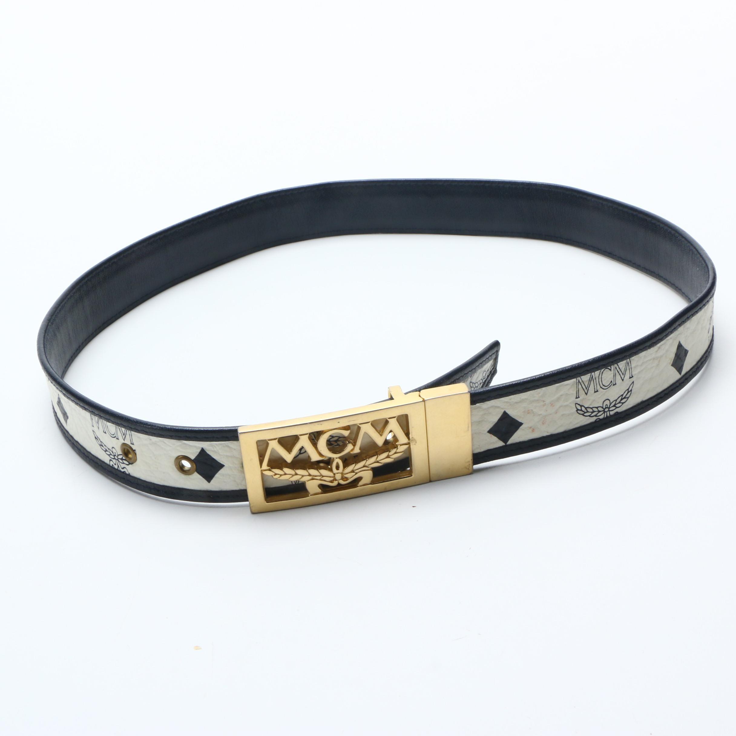 vintage mcm leather belt ebth