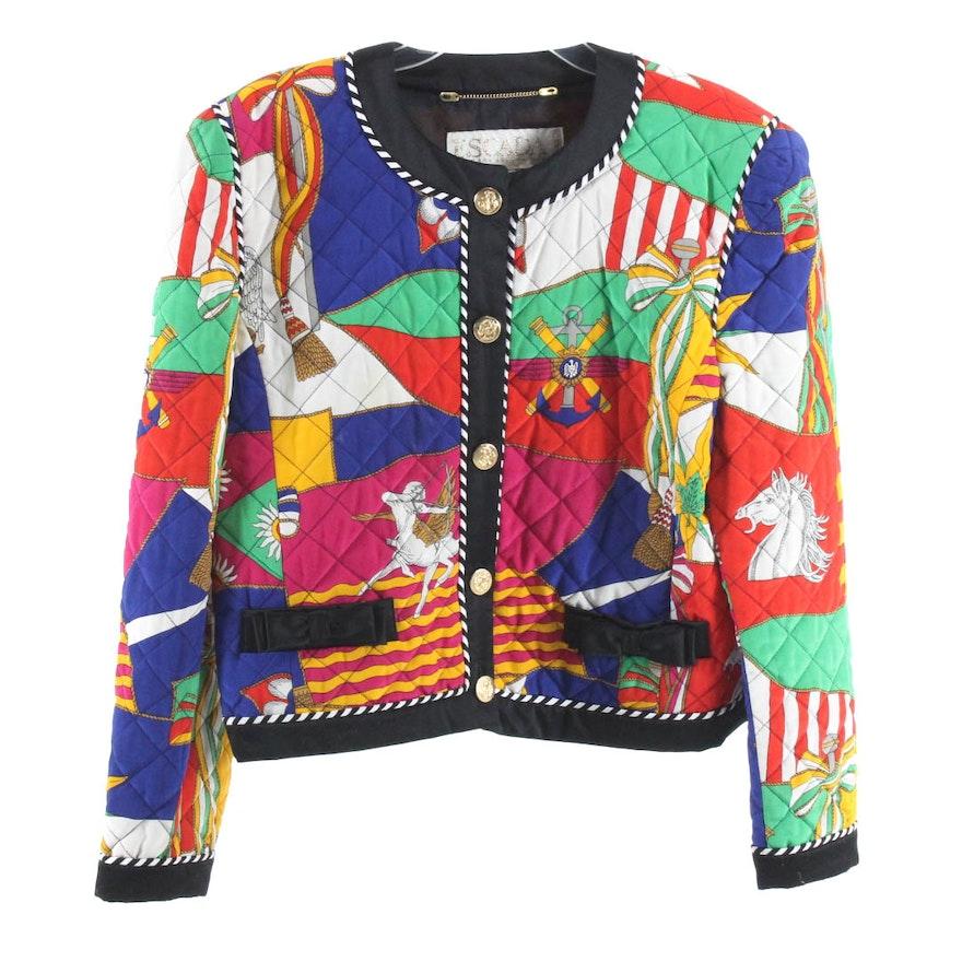 0768da7e4151c0 Vintage Escada by Margaretha Ley Quilted Silk Jacket   EBTH