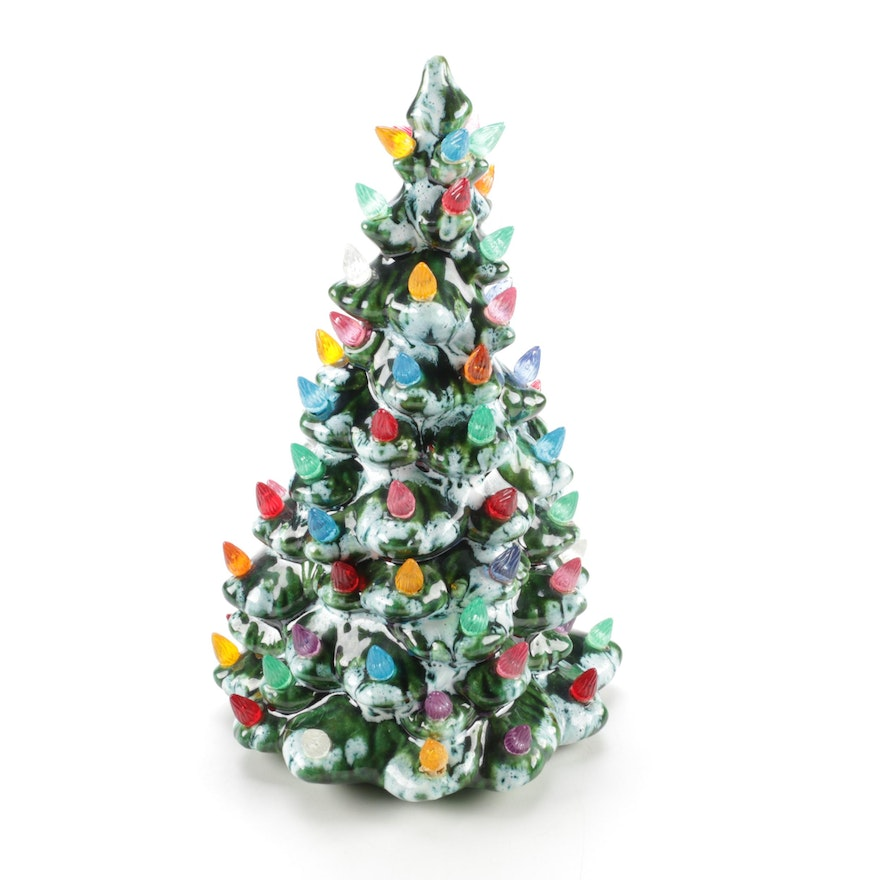 vintage ceramic light up christmas trees