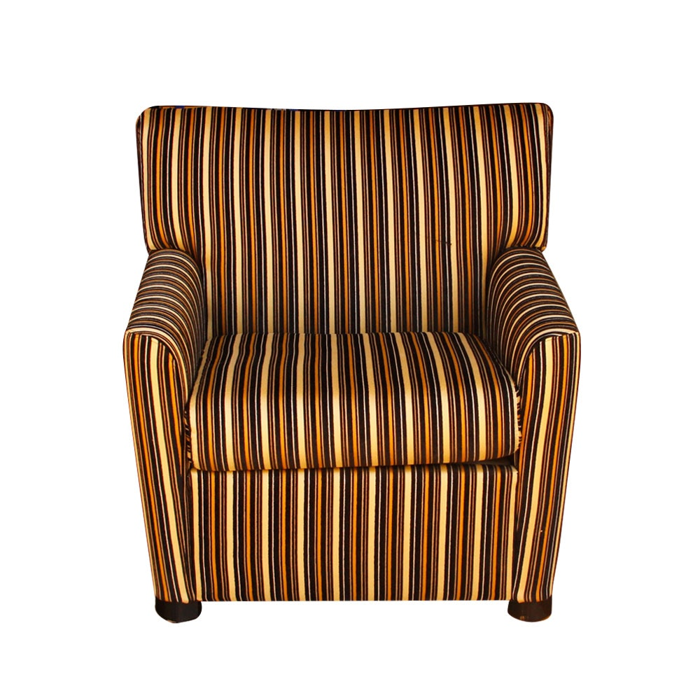 Contemporary Striped Armchair