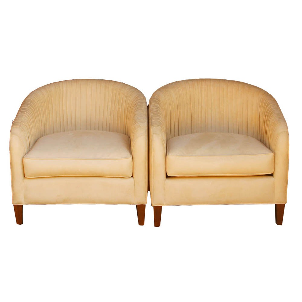 Upholstered Barrel Back Accent Chairs