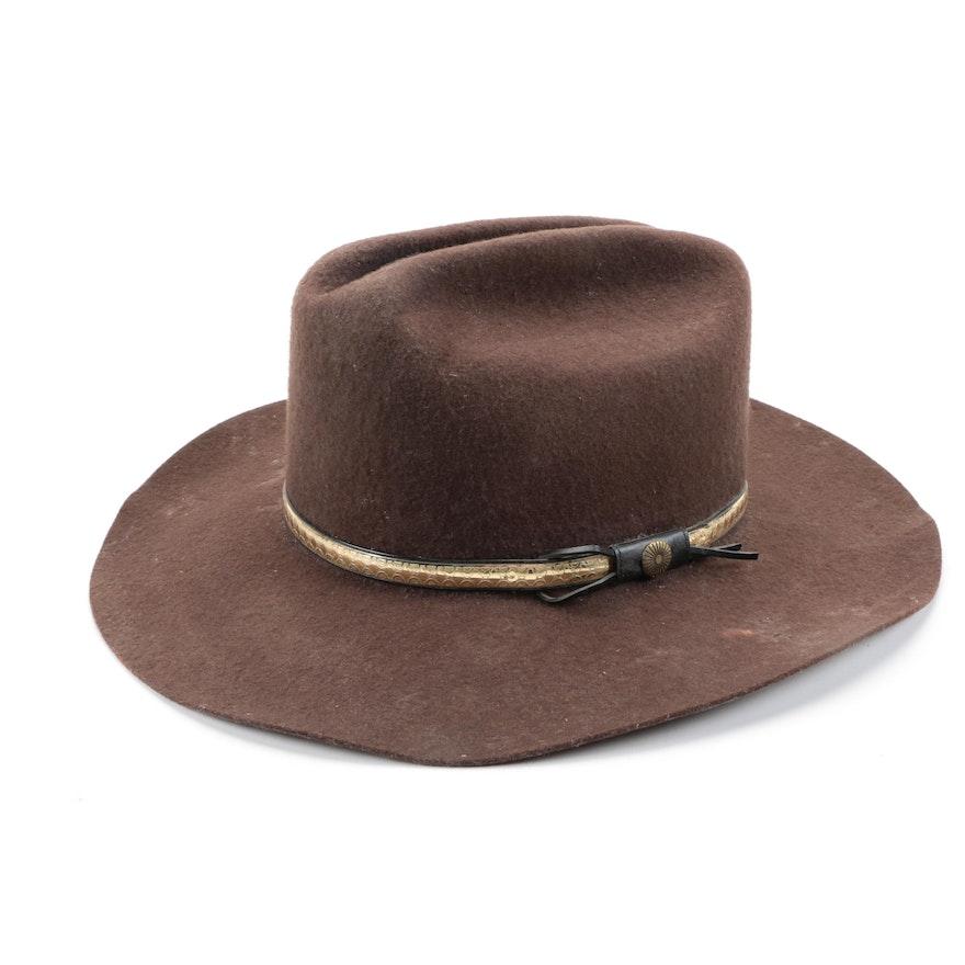 d16784af08659 Men s Western Express Brown Cowboy Hat   EBTH
