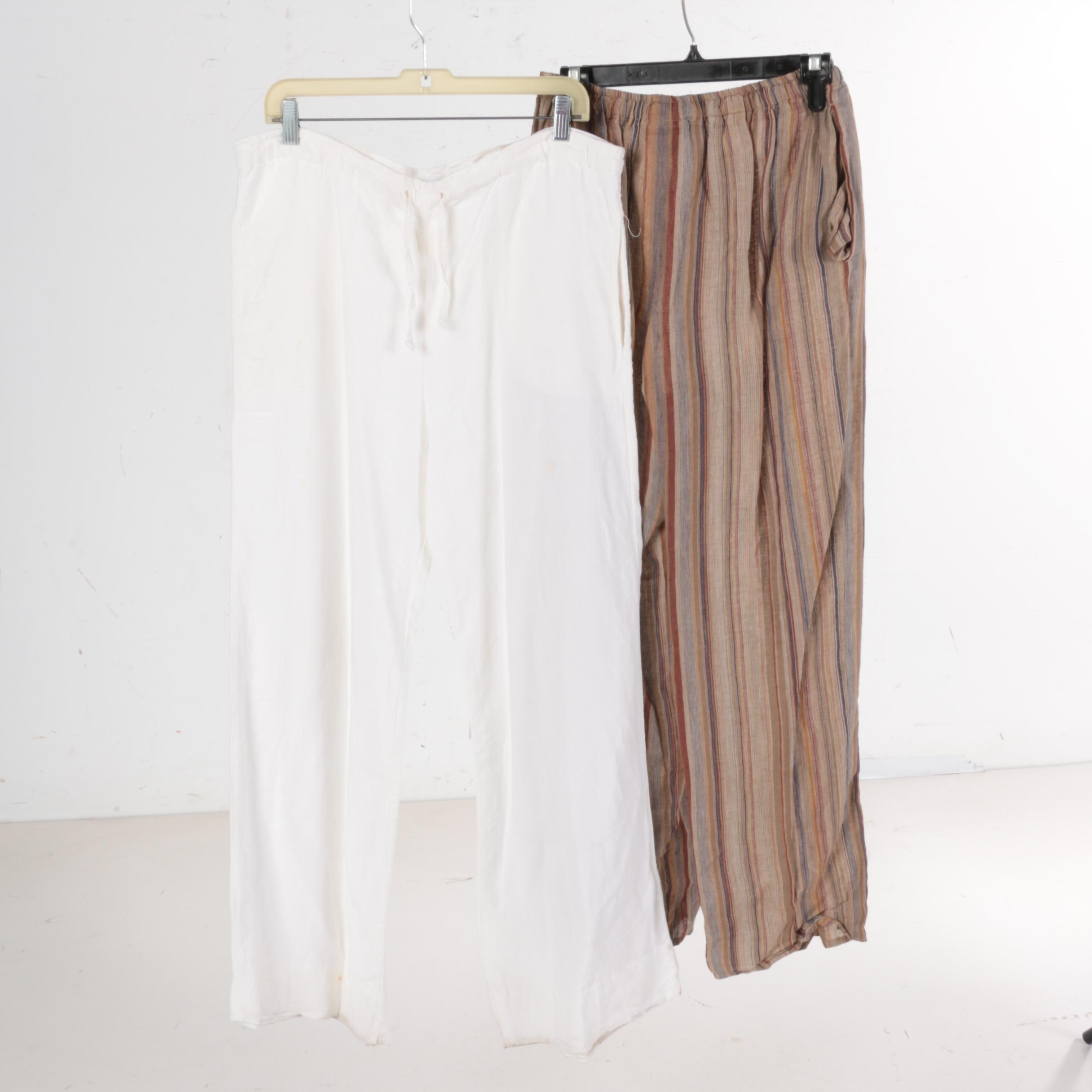 Women's Linen Pants By Eskandar and Theodore