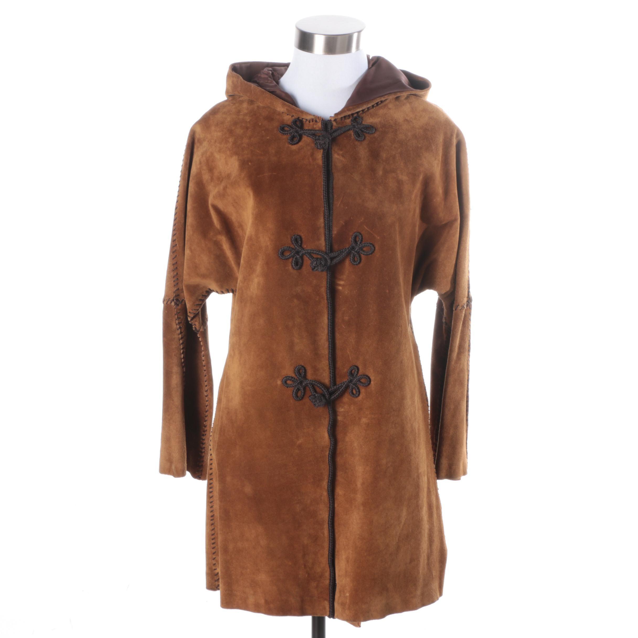 Women's Brown Suede Coat