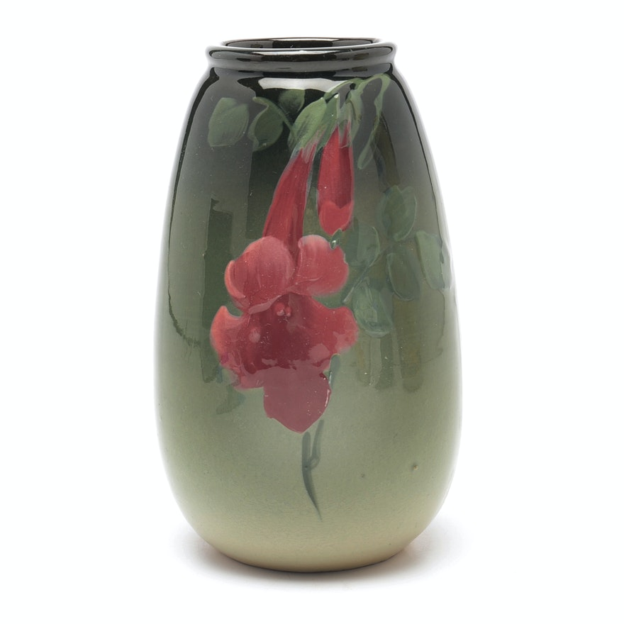 Hand Painted Flower Vase Ebth