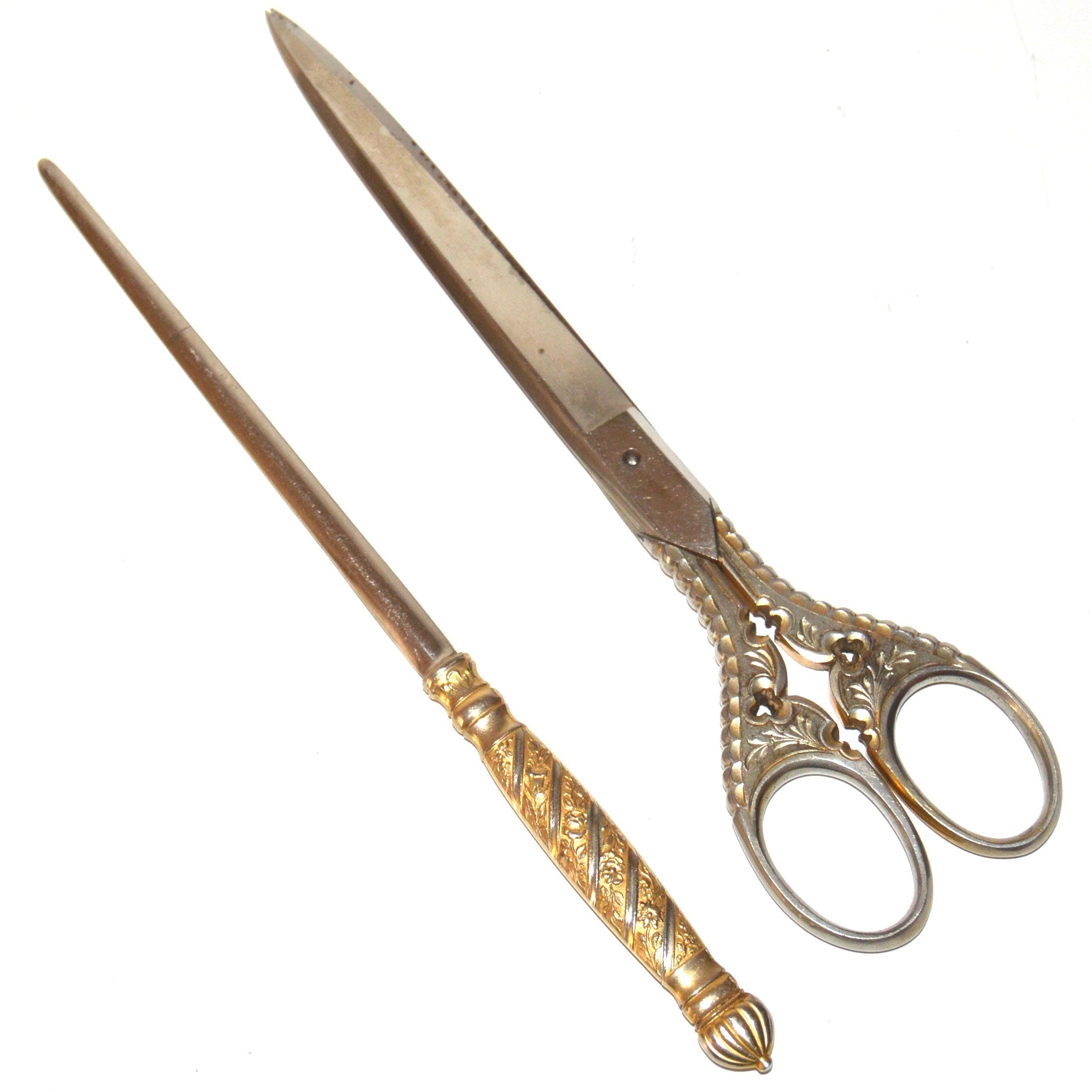 Vintage Cutting Shears and Letter Opener