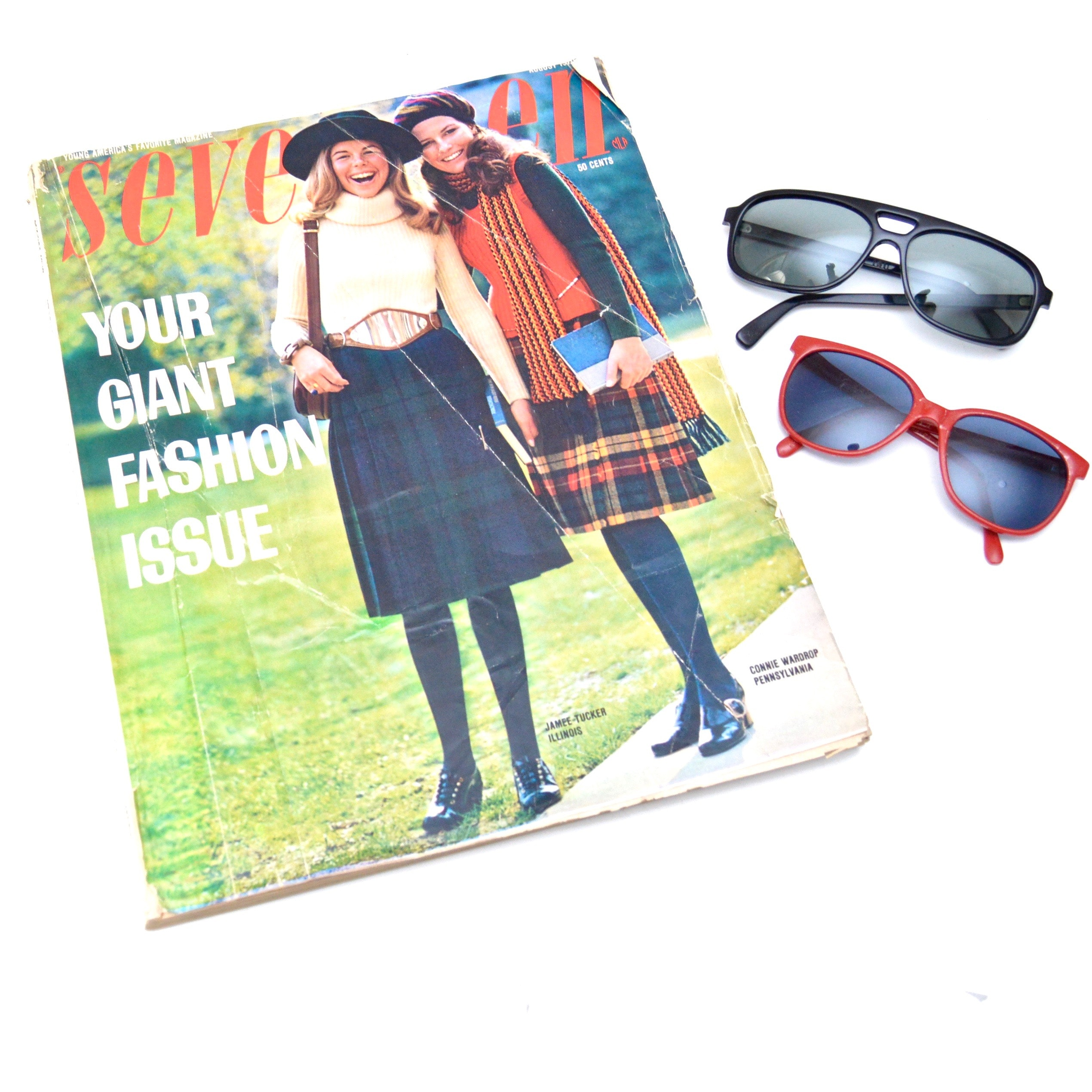 Vintage Seventeen Magazine and Sunglasses, Featuring Foster Grant