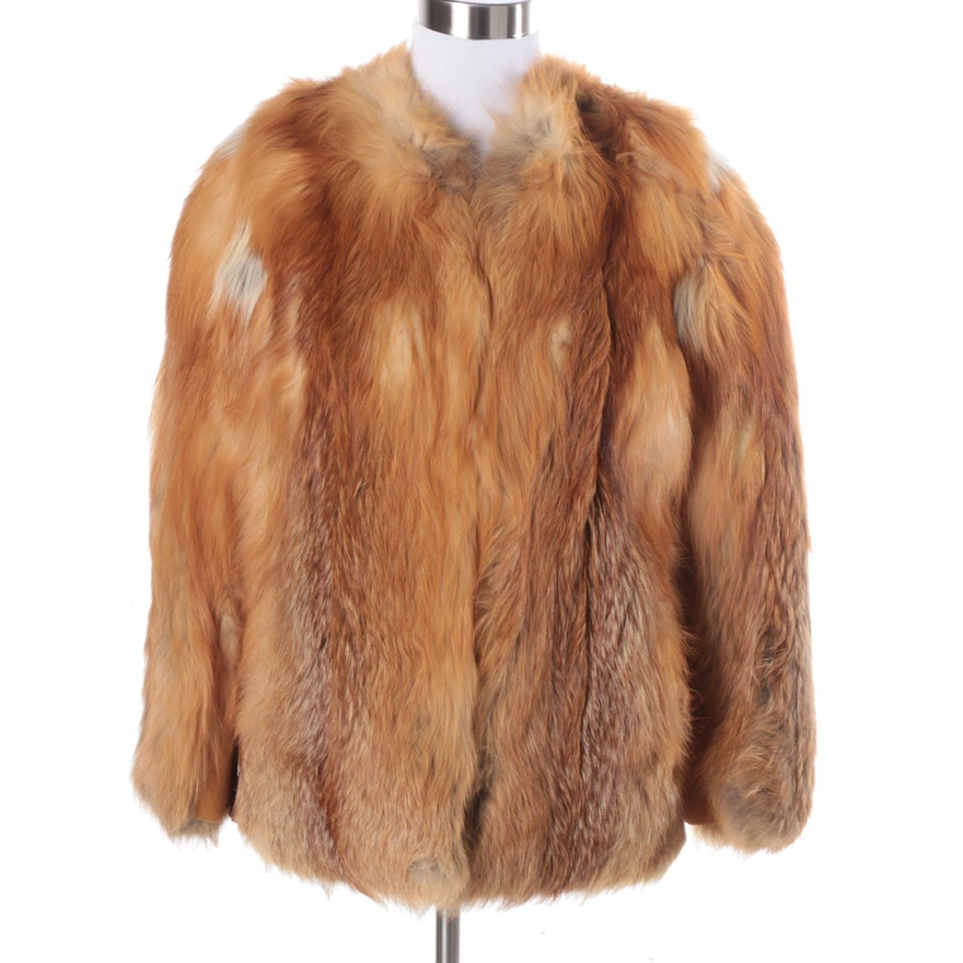 vintage neiman marcus red fox fur coat ebth. Black Bedroom Furniture Sets. Home Design Ideas
