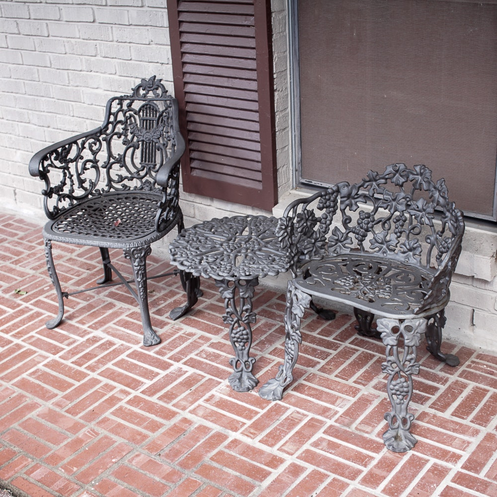 Black Metal Patio Furniture