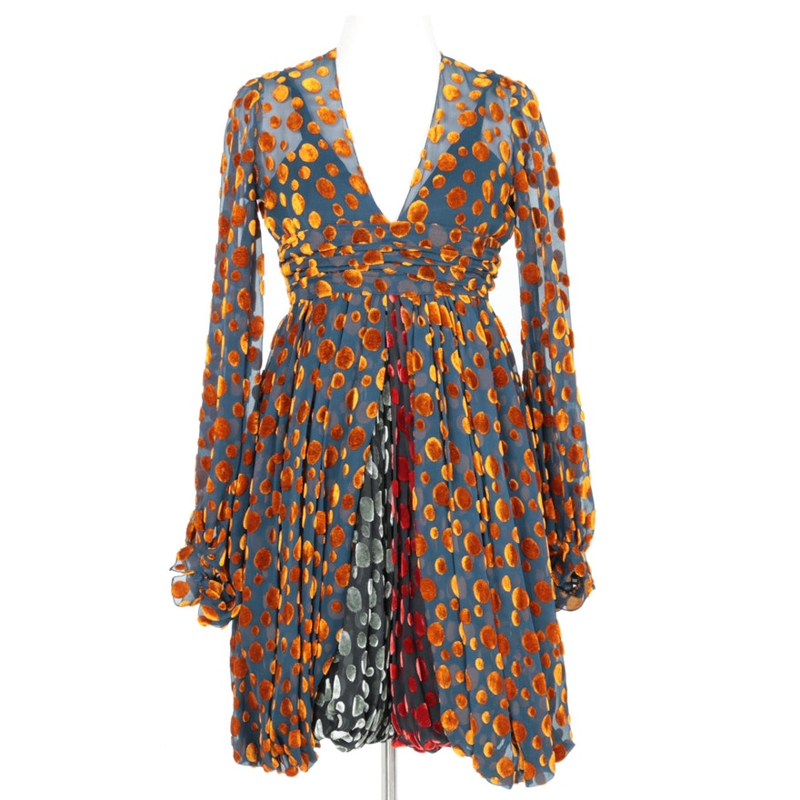 Women's Vintage Cardinali Dress with Bloomers