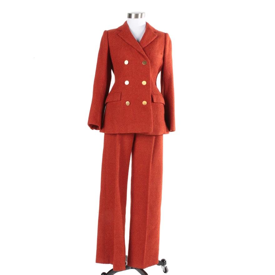 Vintage Cardinali Orange Pantsuit