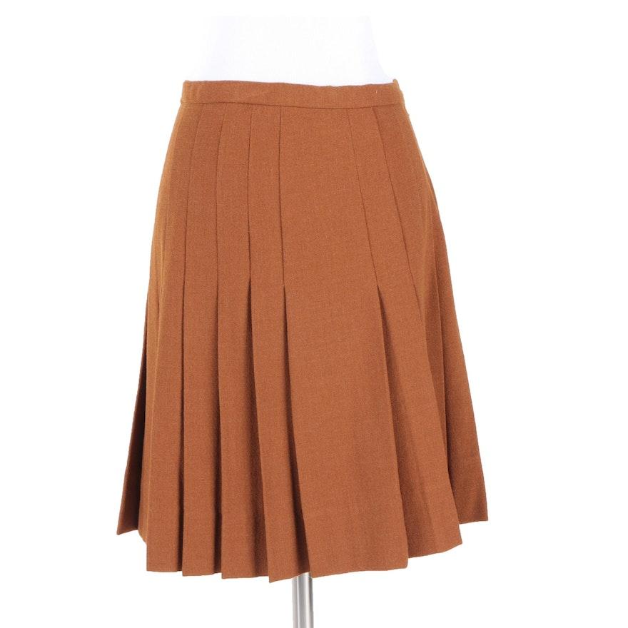 Vintage Cardinali Sample Brown Pleated Skirt