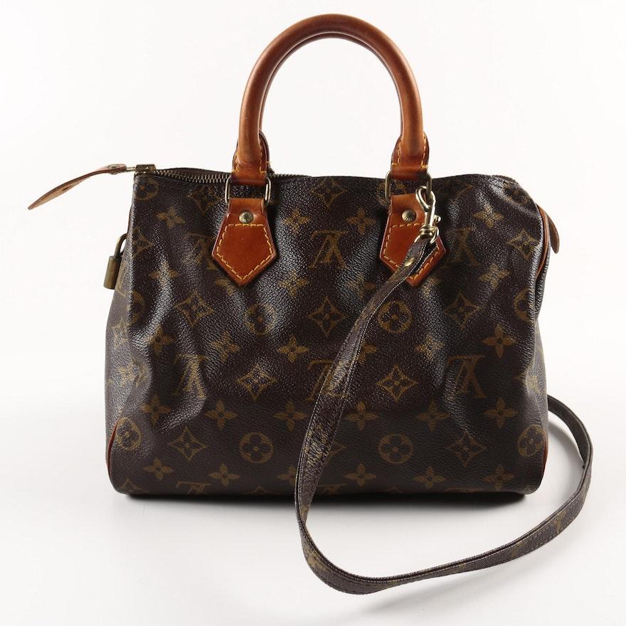 Early 1980s Vintage Louis Vuitton Sdy 25 Handbag