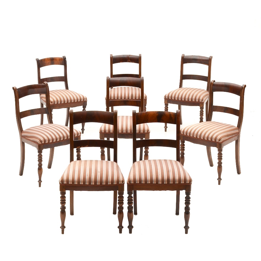 Eight Antique Empire Style Dining Chairs ... - Eight Antique Empire Style Dining Chairs : EBTH