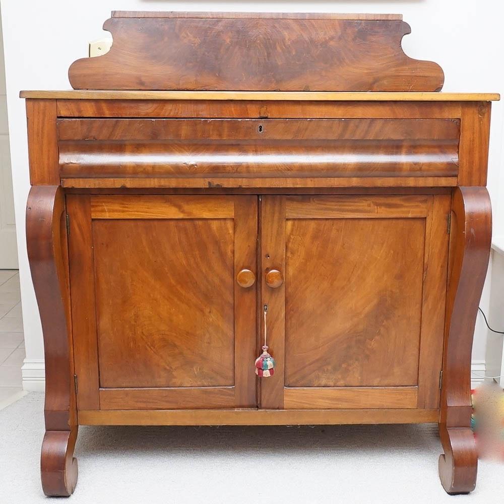 Antique American Empire  Mahogany Sideboard