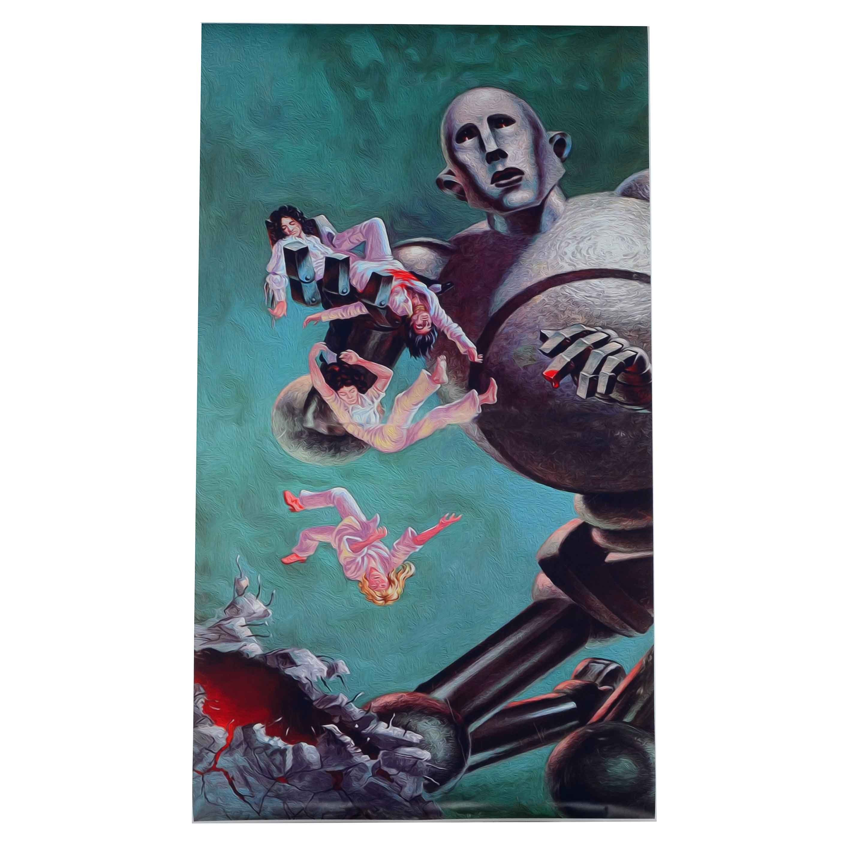 Giclee Poster of Frank Kelly Freas' Cover Art for Queen's ... Queen News Of The World Cover Art