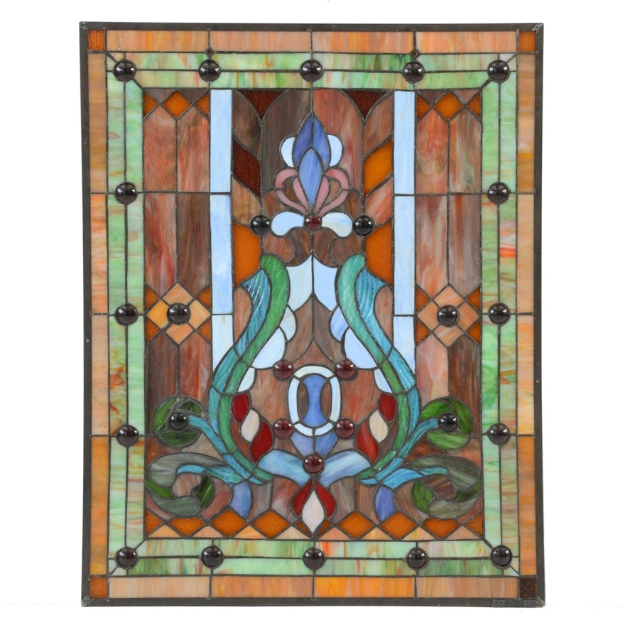Stained Glass Hanging Window Panel Ebth