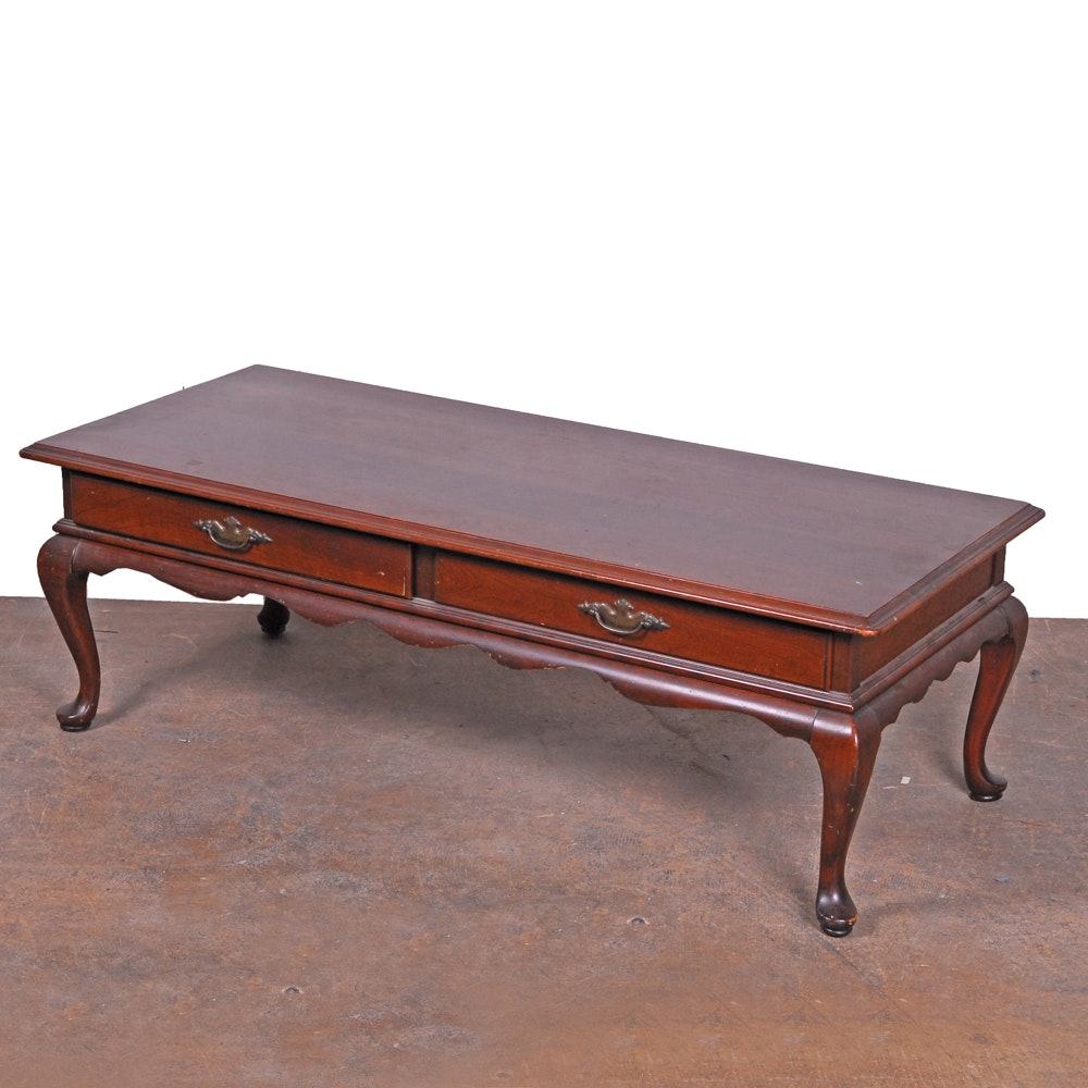 Merveilleux Queen Anne Style Coffee Table By Ethan Allen ...