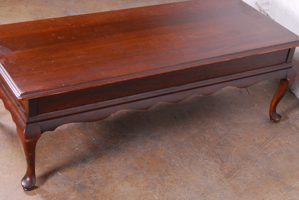 Queen Anne Style Coffee Table By Ethan Allen Ebth