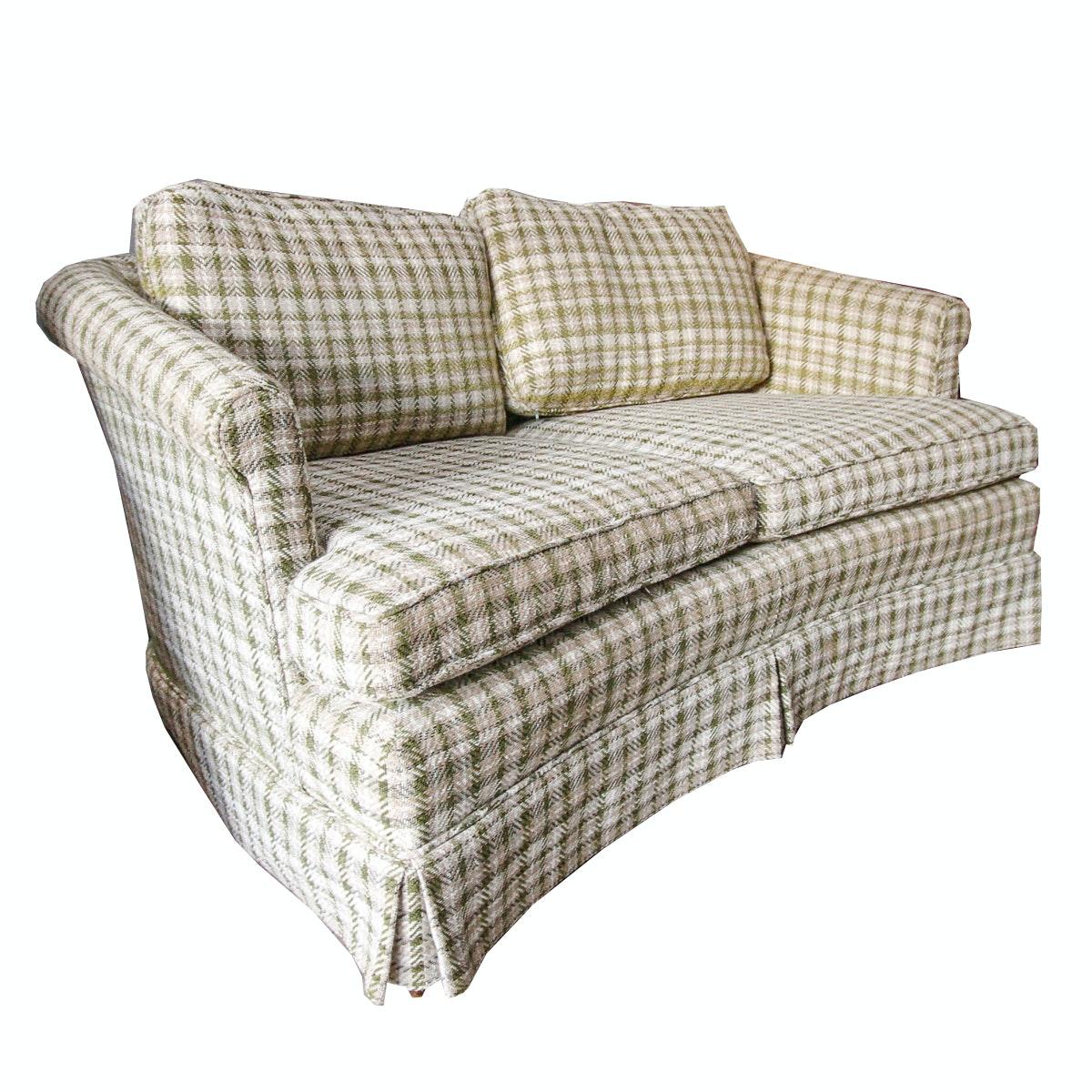 Vintage Wool Plaid Sofa By Shaw Furniture ...
