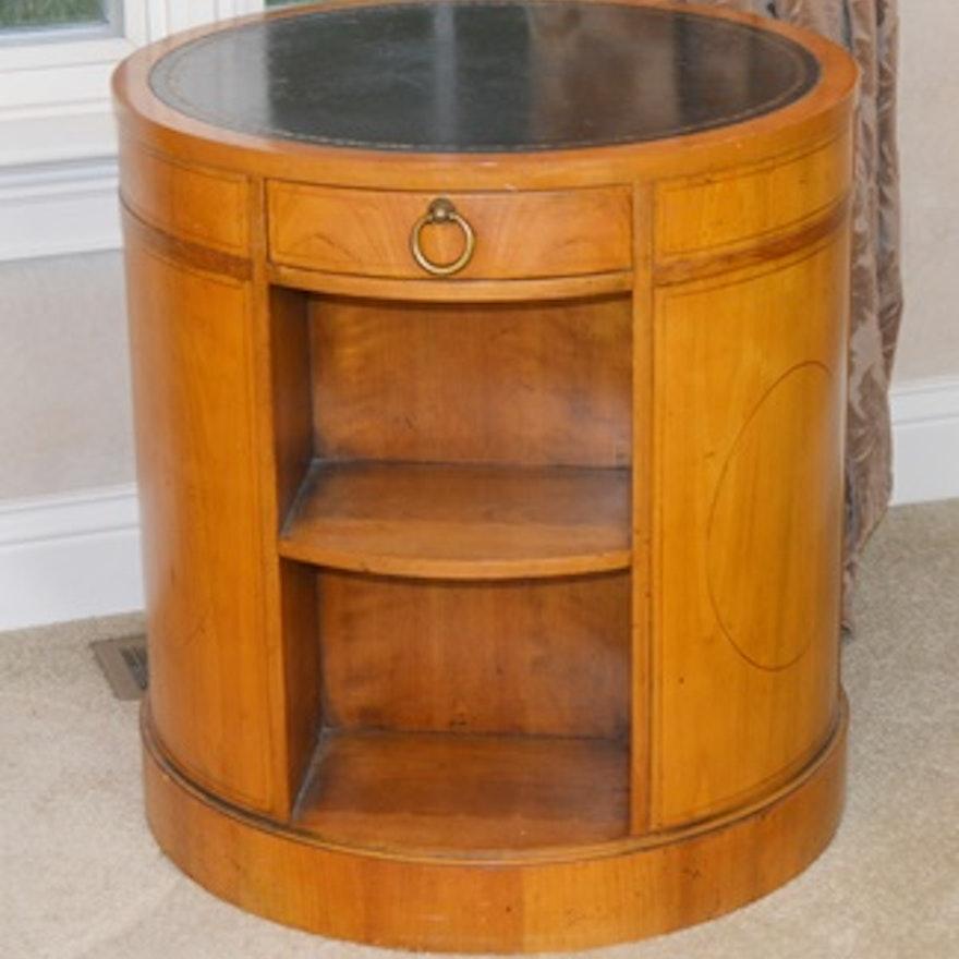 promo code dafe8 84fa9 Baker Furniture Bookcase Round Drum Side Table