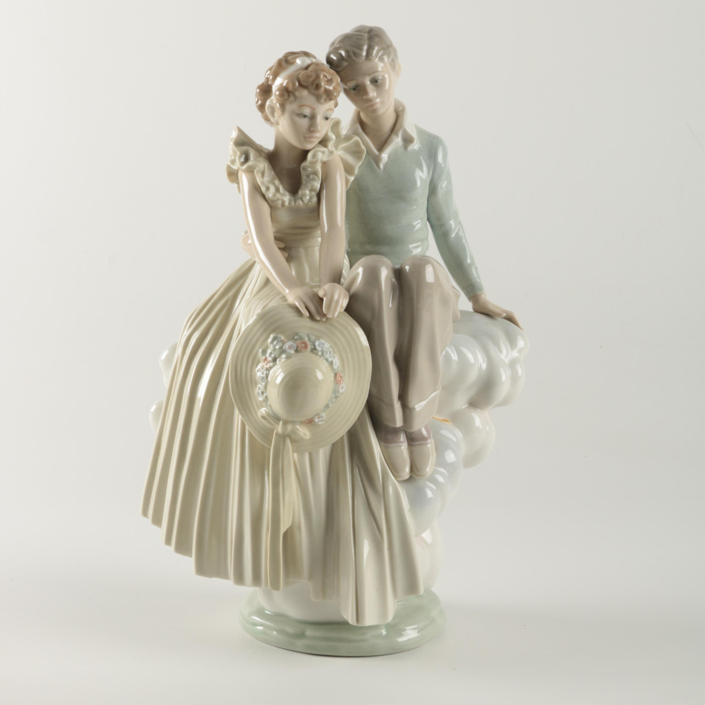 """Lladró """"Young Love"""" Norman Rockwell Porcelain Figurine"""