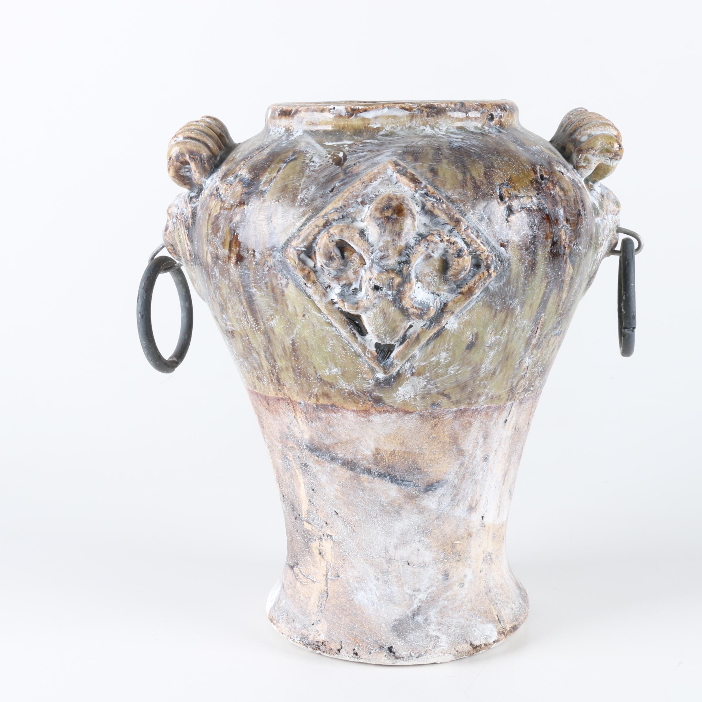 Urn Style Ceramic Planter