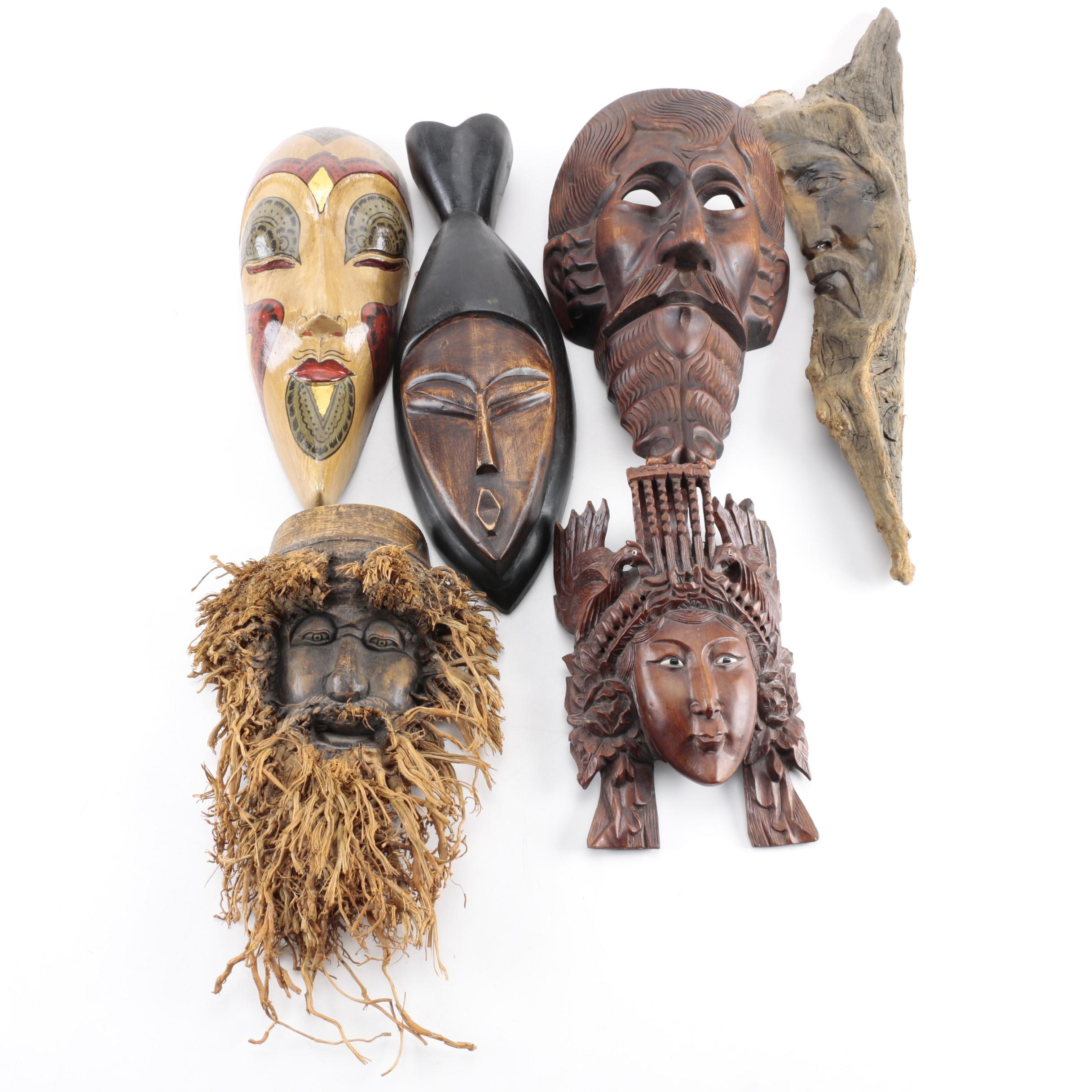 Carved Wood Mask Collection