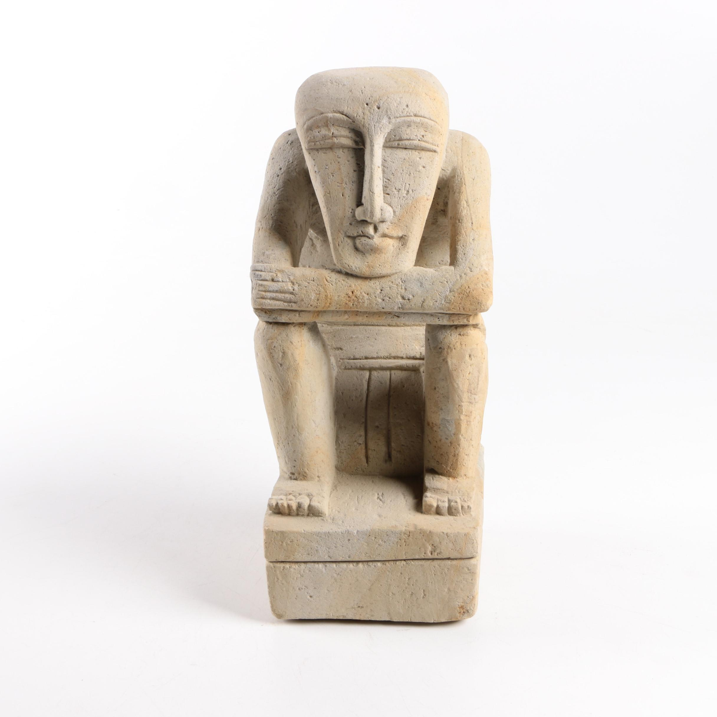 Contemporary Carved Stone Figural Sculpture