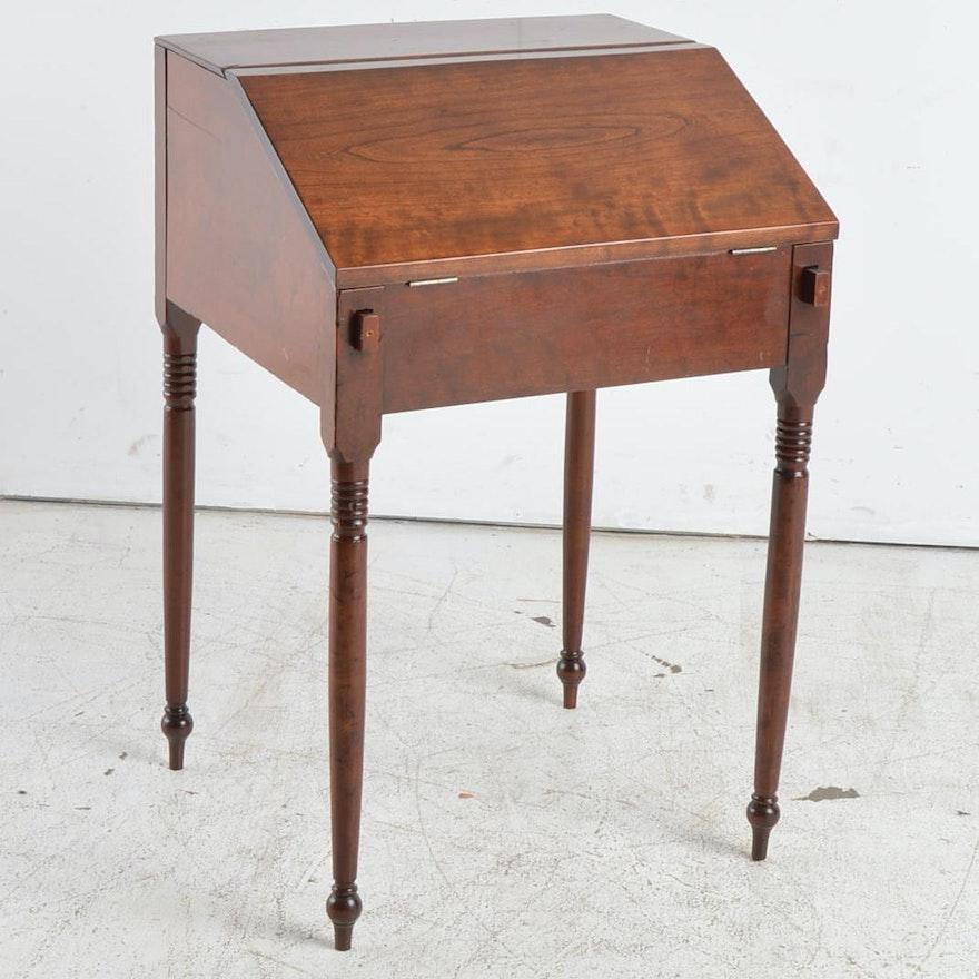 - Antique Cherry Slant Front Secretary Desk : EBTH