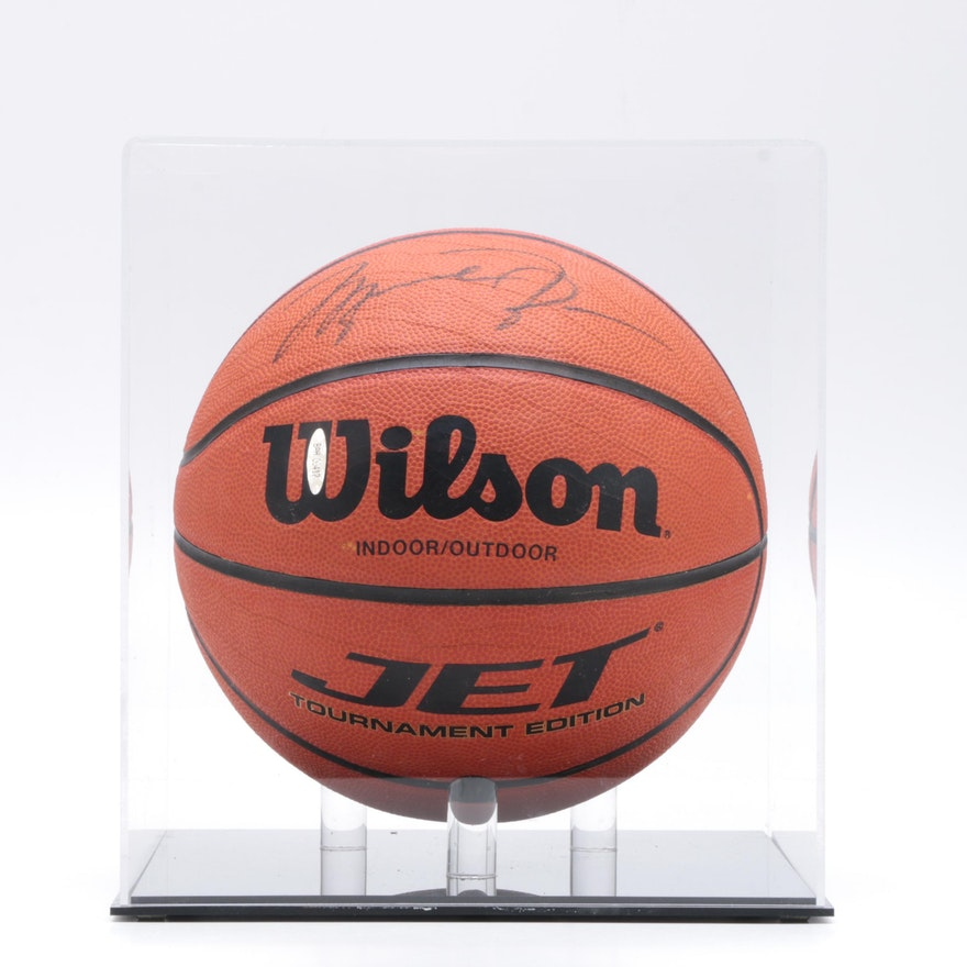 online store 3deff 4e6a6 Michael Jordan Autographed Basketball - Upper Deck COA