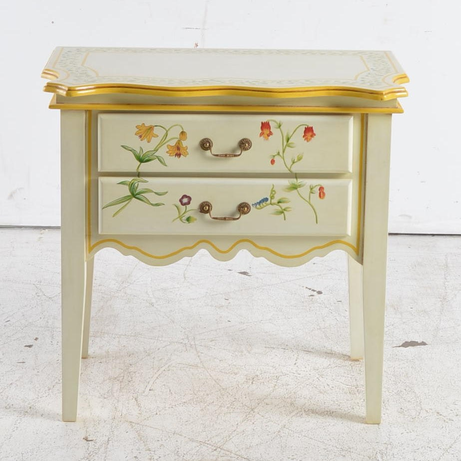 French Provincial Style Accent Table by Oriental Affent