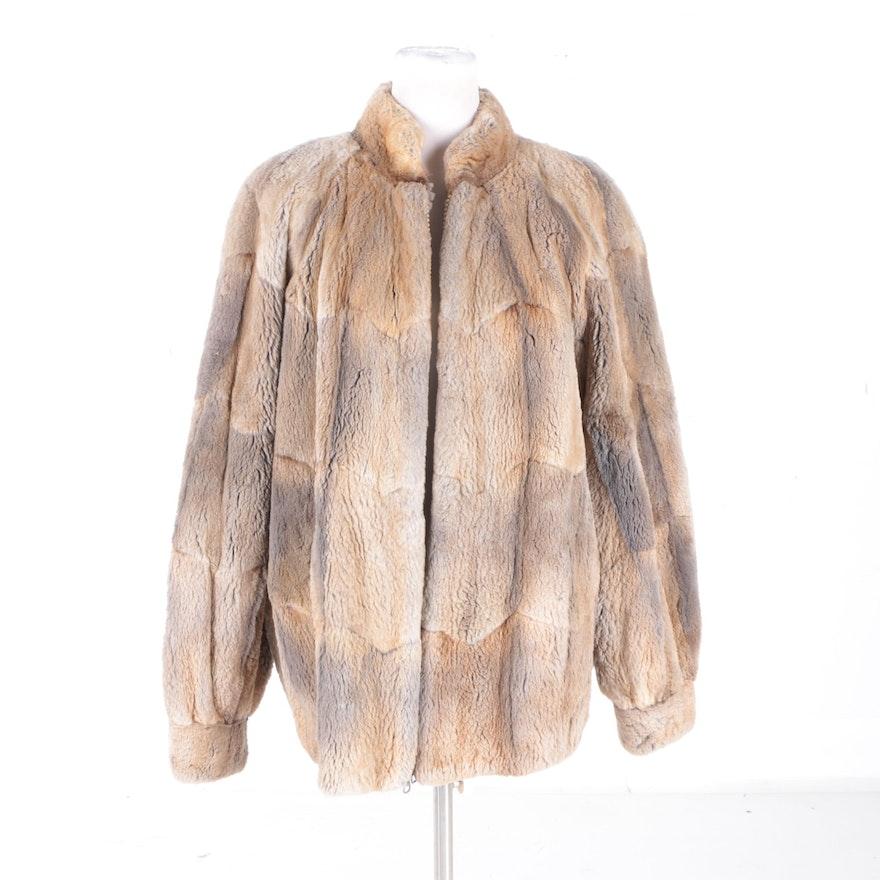 neiman marcus sheared muskrat fur coat ebth. Black Bedroom Furniture Sets. Home Design Ideas