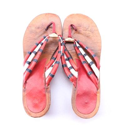 7e1ebd5f0 Gucci Leather Thong Sandals