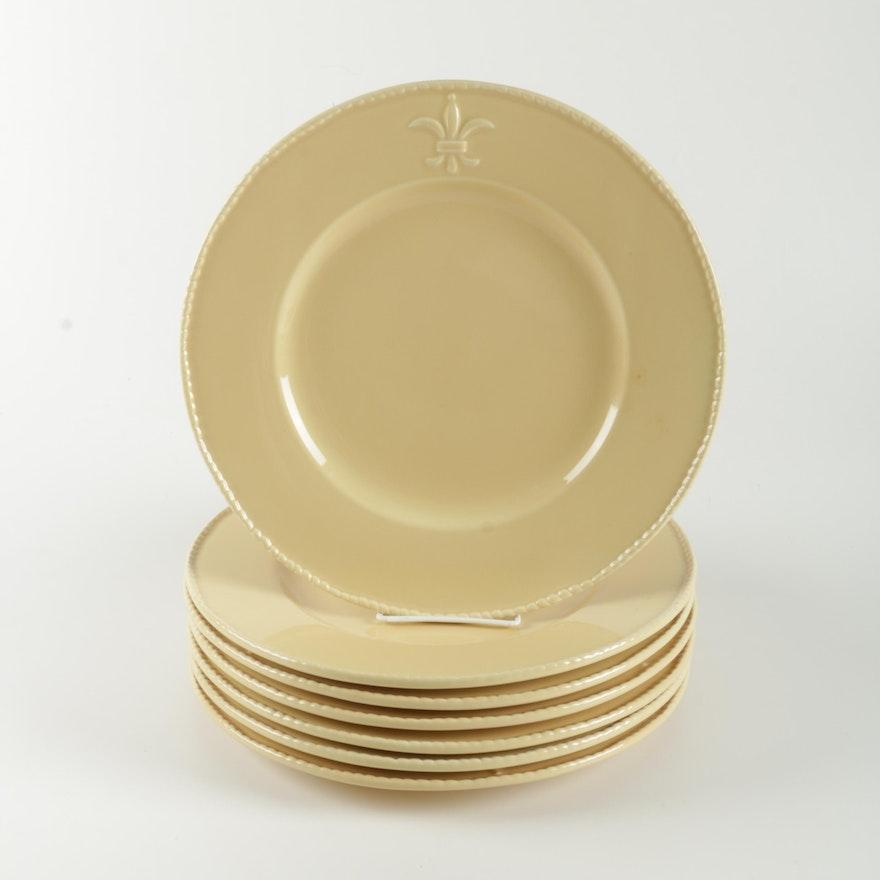 Seven Bordallo Pinheiro Portugal Dinner Plates