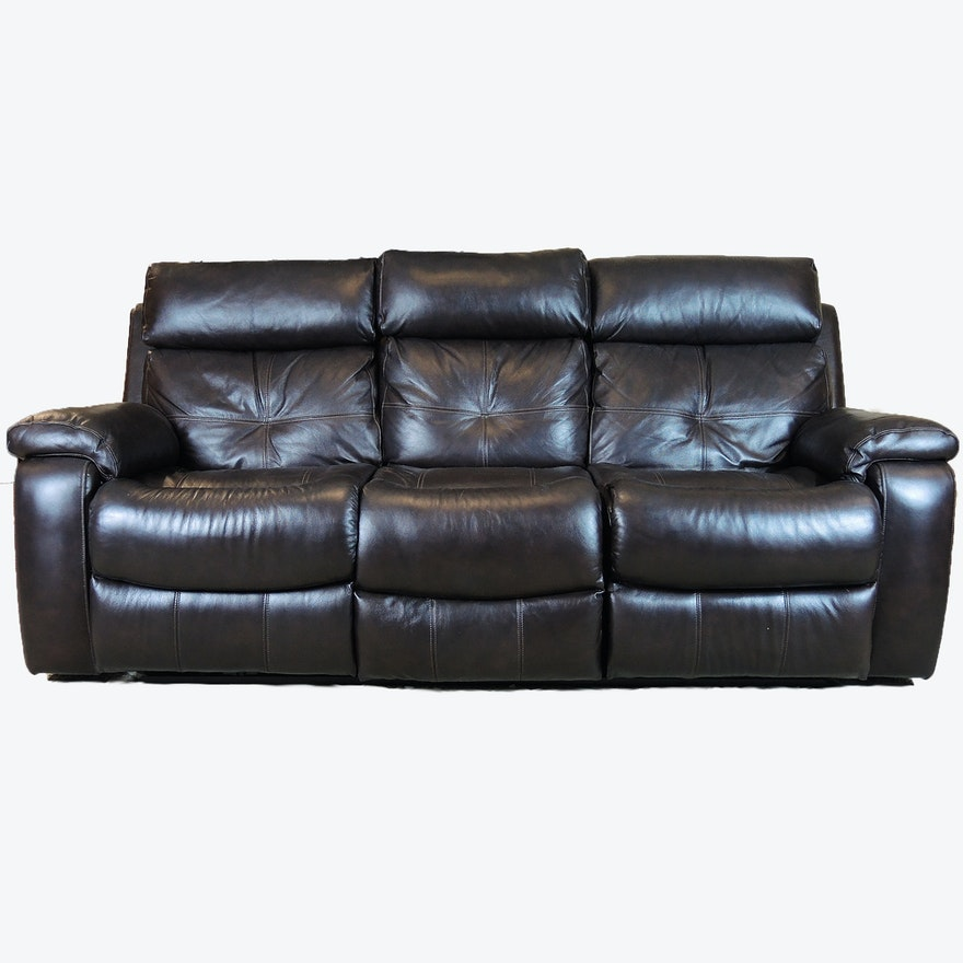 Leggett Platt Leather Reclining Sofa