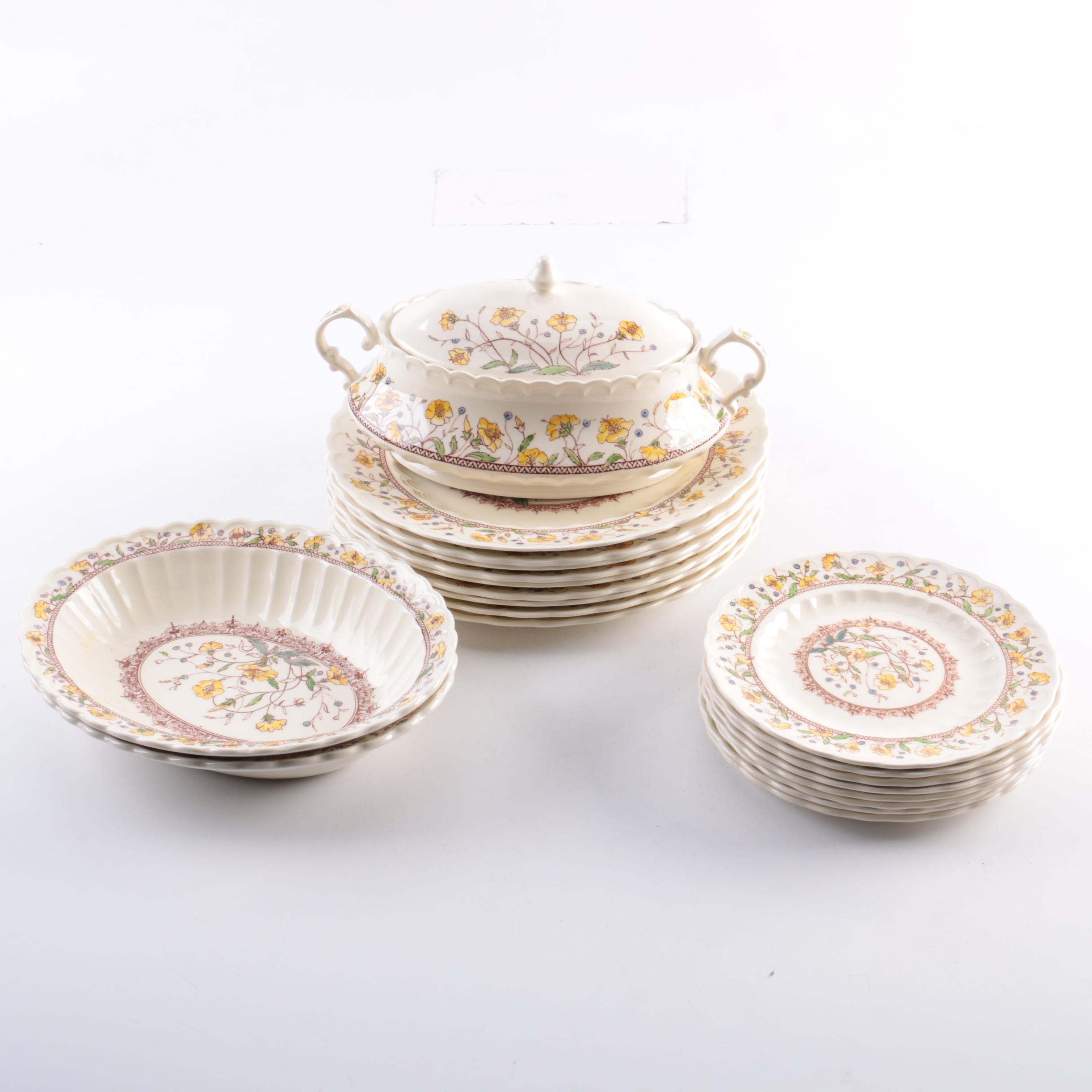 Vintage Vernon Kilns \ Hibiscus\  Tableware ...  sc 1 st  EBTH.com & Vintage Vernon Kilns \