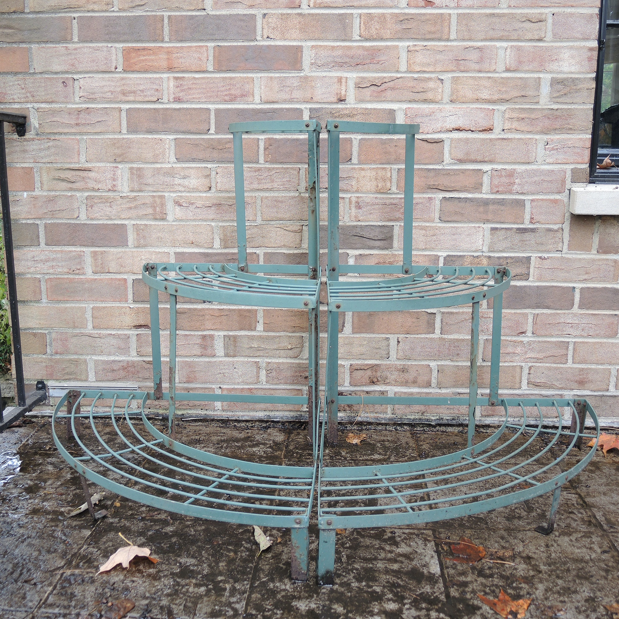 Pair of Tiered Corner Plant Stands