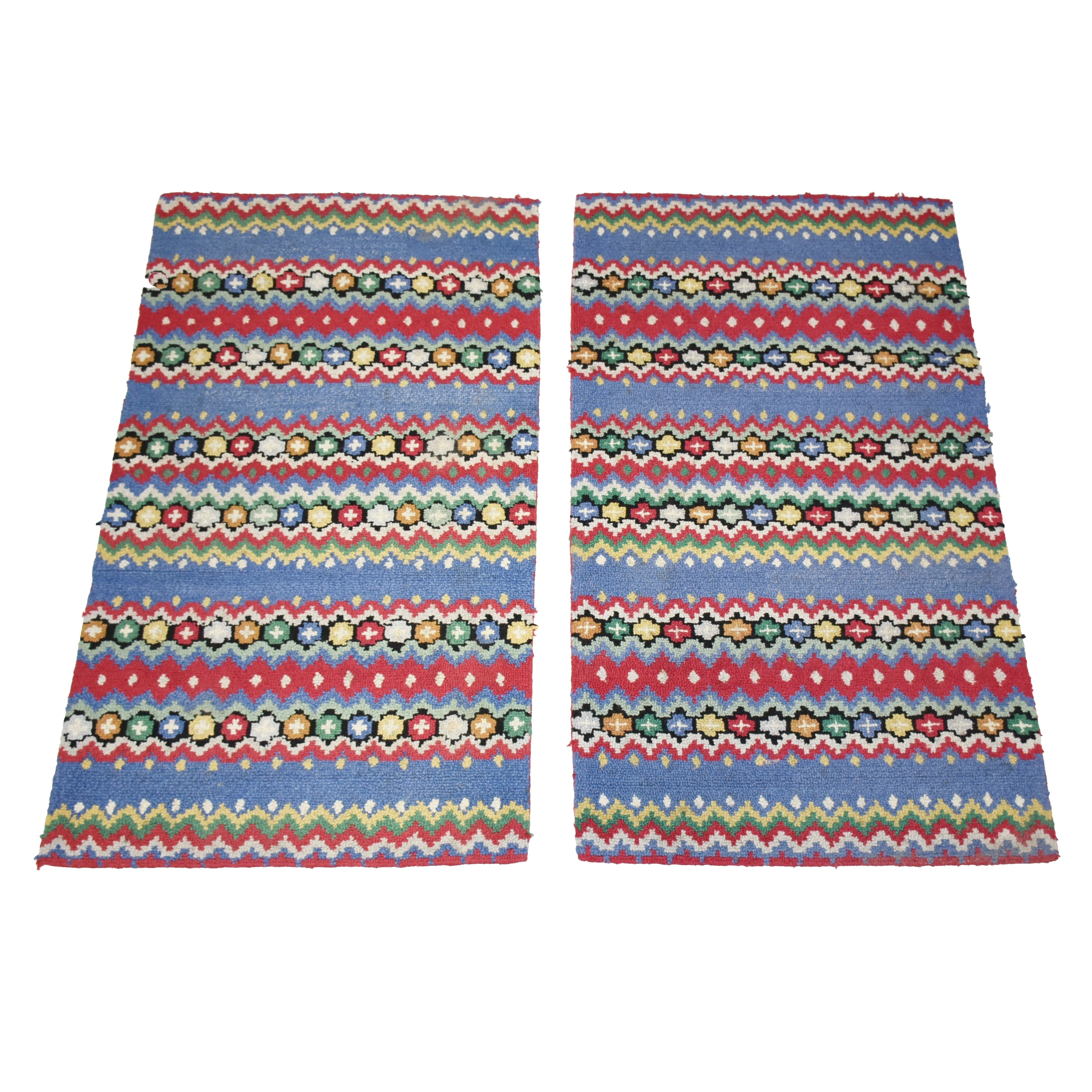 Two Hand Hooked Wool Rugs