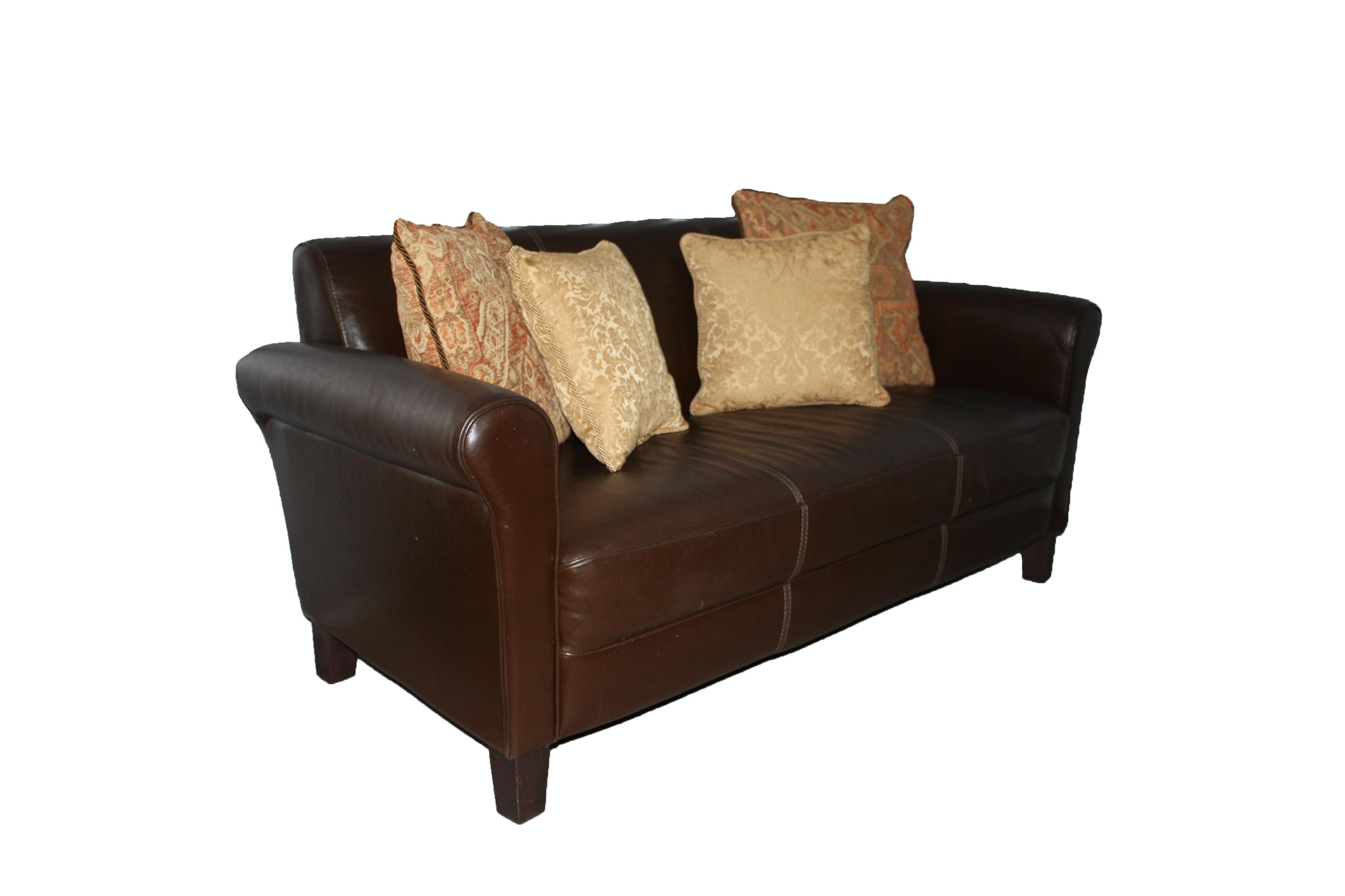 Contemporary Italian Brown Leather Sofa